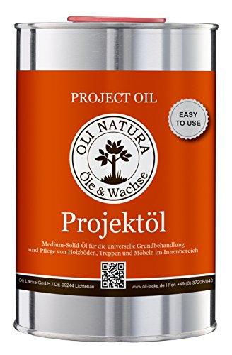 OLI-NATURA Projektöl für innen (speziell für Möbel, Parkett und Treppen aus Holz),  1 Liter,  Farblos