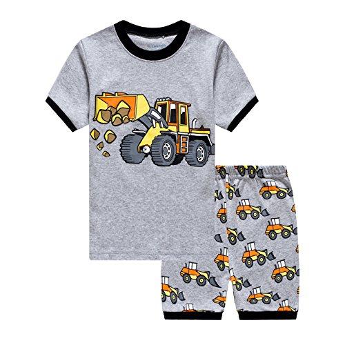 Und 1 Jungen Shorts (Tarkis Jungen Pyjama Schlafanzüge Lange Zweiteiliger Schlafanzug 1-6 Jahre, 3-bagger, 86)