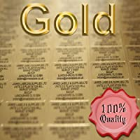 Personalised Labels (Name & Address) x 260 Gold Mini Labels /Black Text