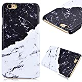 iPhone 6S Case, iPhone 6 Case, GrandEver Hard PC Marble Case for Apple iPhone 6S 6 High Quality Plastic Back Cover Stitching Color Pattern Design Flexible Nice Back Case Rigid Protective Shell for Apple iPhone 6S/iPhone 6 (4.7