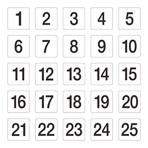 Tisch Zahlen 1–5095x 100mm Hochzeit Kneipen Restaurants Cafe Clubs Bar