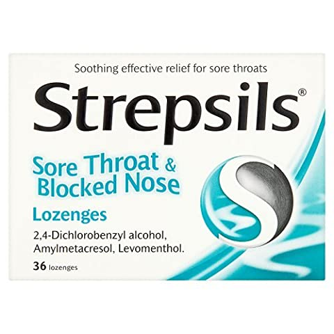 Strepsils Sore Throat and Blocked Nose Lozenges, 36