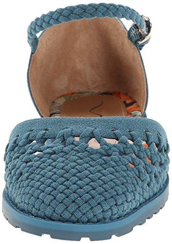 Nina East Toile Chaussure Plate Sea Cotton