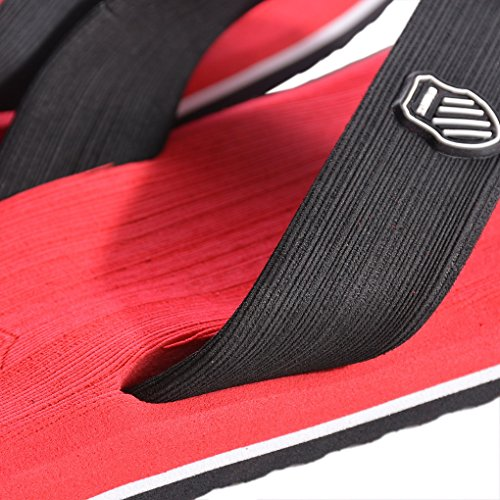 Vertvie Mens Summer Shoes Sandali Da Spiaggia Indoor Outdoor Slipper Perizoma Sandali Infradito Rosso