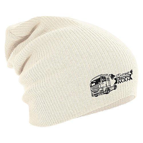 Longbeanie Slouch-Beanie Mütze LKW IRON MAN 55201 Farbe natur