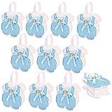 JZK 24 x Azzurro Blu Pagliaccetto Neonato Scatola portaconfetti scatolina bomboniare regalino Festa Battesimo Compleanno Nascita Comunione Bambino Bimbo