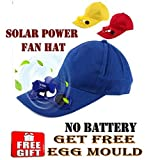 Solar Power Air Fan Hat Peak Cap Sunhat for Outdoor Camping / Hiking / Cycling with free Egg mould (Multi color)
