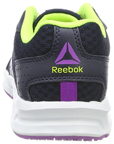 Reebok Damen Express Runner Laufschuhe Blau (Collegiate Navy/Solar Yellow/Vicious Violet/White)