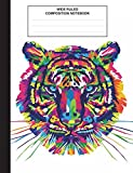 Best Creative Composition Notebooks - Composition Notebook: Tiger Watercolor, Composition Book for School Review