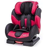 ZOPA Kinderautositz Carrera 9 - 36 kg - verstellbarer Autokindersitz ab 9 Monate bis ca. 12 Jahre - Gruppe 1/2/3 - Kindersitz mit Seitenaufprallschutz - 5-Punkt Sicherheitsgurt, verstellbare Rückenlehne - verstellbare Kopfstütze schützt die Halswirbelsäule (Farbe: Ruby Red)