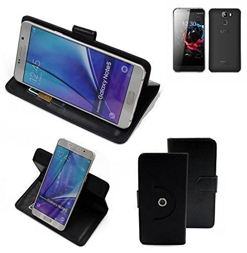 K-S-Trade® Hülle Schutzhülle Case für UMI Hammer S Handyhülle Flipcase Smartphone Cover Handy Schutz Tasche Bookstyle Walletcase schwarz (1x)