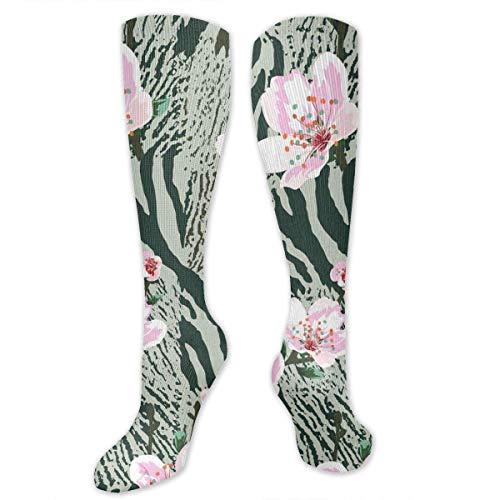 s Leopard Print High Socks Long Socks Boot Stocking Compression Sports Socks For Women Men ()