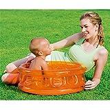 LLFFDC Baby Aufblasbares Pool Kinderspielzeug Planschbecken Badewanne, 64 x 25cm, Orange