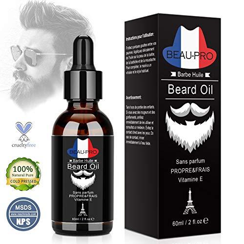 APICI Huile Barbe Bio,Huile Hydratante pour Barbe - Favorise la Pousse de la Barbe - Contient de l'Huile de Ricin, de Jojoba, d'Argan- Soin pour Barbe - Bois de Santal