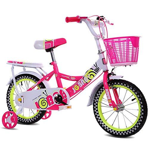 ZHIRONG Bicyclette Pour Enfants Jouet En Métal Violet Rose Bleu 12 Pouces, 14 Pouces, 16 Pouces Sortie Extérieure ( Couleur : Rouge , taille : 12 pouces )