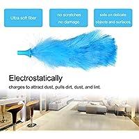 Togames-ES Plumero de Limpieza rotatorio Plumero de Pluma eléctrica 180 ° Cepillo de Limpieza de flexión