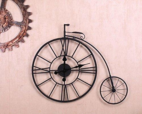 Estilo Europeo vintage retro antigua Mute hierro bicicleta modelado reloj de pared Home Sala de estar y bar decoración del café