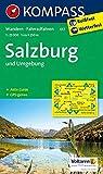 Salzburg und Umgebung: Wanderkarte mit Aktiv Guide und Radwegen. GPS-genau. 1:25000: Wandelkaart 1:25 000 (KOMPASS-Wanderkarten, Band 17)