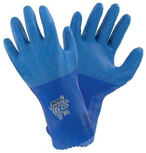 Showa 281 Temres atmungsaktiv und wasserdicht PU Handschuhe Arbeitskleidung Sicherheit - Größe 7/klein