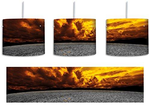 ausgetrocknete Landschaft schwarz/weiß inkl. Lampenfassung E27, Lampe mit Motivdruck, tolle Deckenlampe, Hängelampe, Pendelleuchte - Durchmesser 30cm - Dekoration mit Licht ideal für Wohnzimmer, Kinderzimmer, Schlafzimmer (Der Bilder Globale Erde)