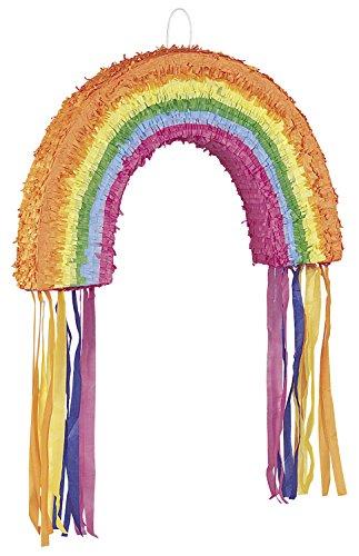 Cumpleaños Piñata arco iris colorido del arco iris de los niños maravillosamente NUEVO