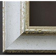 Espejo de pared Espejo Baño piso Espejo perchero Espejo–más de 200tamaños–Acta Blanco Plata 6,7, Medida exterior, Weiß, 40 x 140