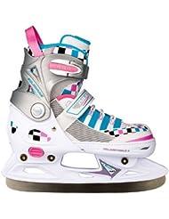 Nijdam - Patines de hielo ajustables para niño blanco blanco Talla:37 - 40