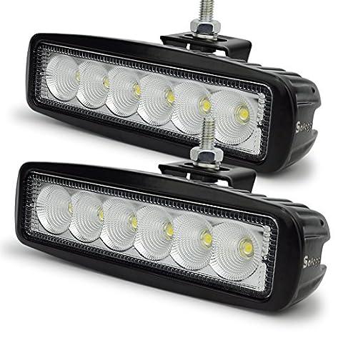 safego 2x 18W LED Lampen Arbeits-Lampen Nebel Flood Astigmatismus LED Fahrzeug Leuchtturm Bar für Geländewagen Baustelle Jeep SUV ATV LKW Anhänger Außerhalb Route Off-Road Boot-LKW