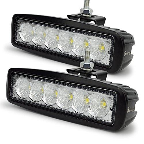 Preisvergleich Produktbild Arbeitslicht 18W LED Scheinwerfer Flutlicht Arbeitsscheinwerfer bar Offroad Zusatzscheinwerfer Arbeitsleuchte Pack of 2