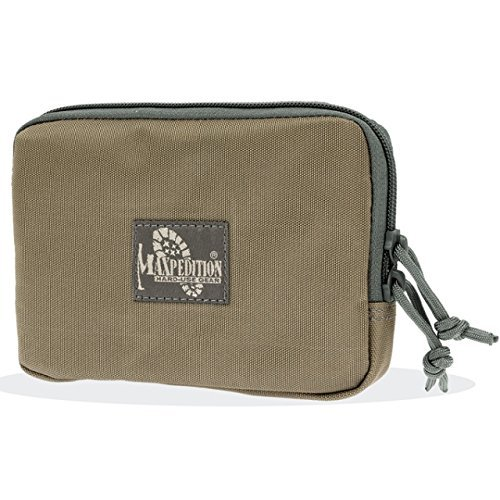 Maxpedition Hook-and-Loop 5-Inch x 7-Inch Zipper Pocket (Khaki-Foliage) by Maxpedition -