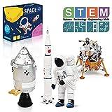 Lehoo Castle Bloque de Construcción del Espacial, 4 en 1 Maqueta de Nave Espacial Juguete, STEM Set de Juguetes para Niños