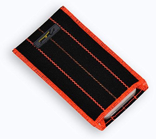 Norrun Handytasche / Handyhülle # Modell Ontje # ersetzt die Handy-Tasche von Hersteller / Modell Samsung SGH-E880 # maßgeschneidert # mit einseitig eingenähtem Strahlenschutz gegen Elektro-Smog # Reinigungseinlage # Made in Germany