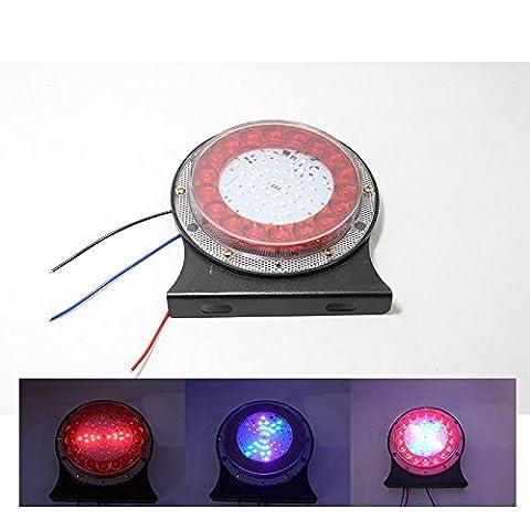 Große Lkw hinten Rückleuchten 24 V LED blinkende Lichter, bunte Auto Anhänger breite Licht Superhelle wasserdichte Warnung Multifunktionshebel, (Lkw Heckscheibe)