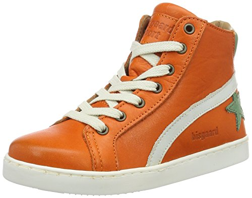 Bisgaard Unisex-Kinder Schnürschuhe High-Top Orange (2001-1 Orange)