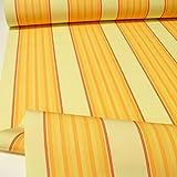 TOLKO Sonnenschutz Markisen-Stoffe als Meterware Zum Nähen mit UV-Schutz 50+ | Wasserdicht, Extra Langlebig - Ohne Ausbleichen (Vanille-Gelb-Orange)