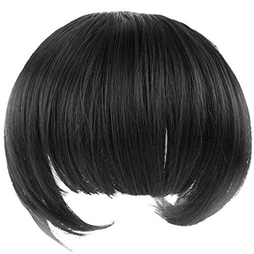 Vococal® Un Morceau Complet Bangs Fringe Soignée Postiches Clip En Extensions de Cheveux Perruques Accessoires 1B#
