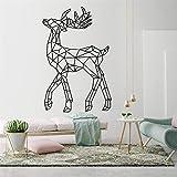 Ciervos geométricos arte de la pared calcomanía decoración de la habitación de los niños decoración de la sala de estar pegatinas de pared mural Art Decor M 58 X 89 CM