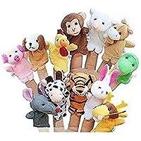 Preisvergleich für 12 stücke Zodiac Handpuppen Fingerpuppen Baby Geschichte Zeit Requisiten Tier Puppe Requisiten Pädagogisches Spielzeug