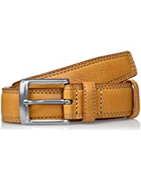 Lee Herren Gürtel Stitched Raised Belt Cognac