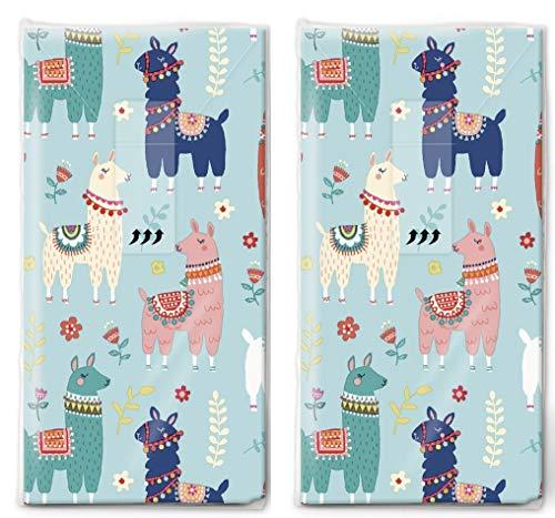 20 Taschentücher (2x 10) Taschentücher Viele bunte Lamas/Tiere / Kinder
