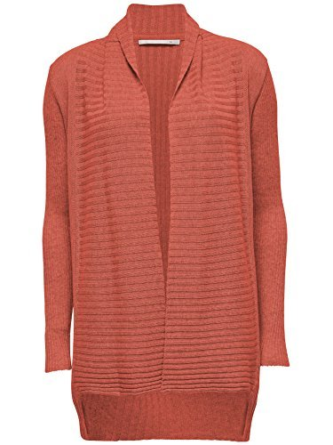 Femmes Veste tricotée Paola L/S CARDIGAN Knt nuque longue Orange ( FADED ROSE )