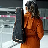 Andoer Andoer® 600D wasserdichte Ukulele-Gigbag aus Nylon mit verstellbaren Schultergurten, 5 mm Baumwolle, gepolstert für Konzert-Ukulele