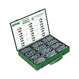 SPAX Montagekasten, Schrauben-Set mit 12 Abmessungen, 1.700 Stück, T-STAR plus, Senkkopf, Teilgewinde, 4CUT, Galvanisch blank verzinkt, 4000009161009