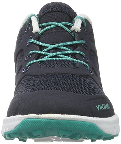 Viking Saratoga Ii, Chaussures Multisport Outdoor mixte enfant Blau (Navy/Green)