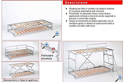 Divano Letto Apertura Automatica.Sofa Bed Bunk With Innovative Mechanism With Three Safeties And