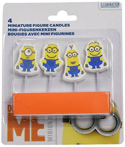 4 Mini-Kerzen * MINIONS - ICH EINFACH UNVERBESSERLICH * für den Kindergeburtstag // Kinder Geburtstag