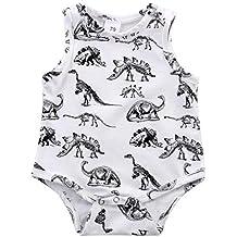 Ropa Verano Bebe SMARTLADY Verano Camisa Pijama sin mangas Para Bebé niño niña