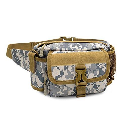 Samtlan - Military Single Schulter Fanny Packs, Multifunktionale wasserdichte Taille Pack Tasche zum Wandern Klettern Outdoor ACU tarnung