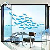 ALLDOLWEGE Kreative Marine Wall Sticker Aufkleber Wohnzimmer Schlafzimmer Bett Dekoration Aufkleber Fisch Wallpaper Bad Wasserfeste Selbstklebende Sticker