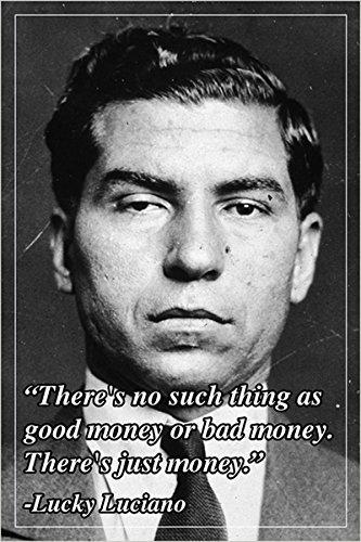 Motivational Poster Zitat Lucky Luciano American Mobster 24x 36-Witz (Motivational Poster 24x36)